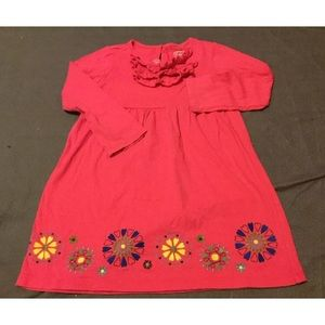 Girls 4t pink dress with flower border by carters